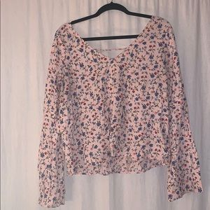 Hollister blouse. Bell sleeves